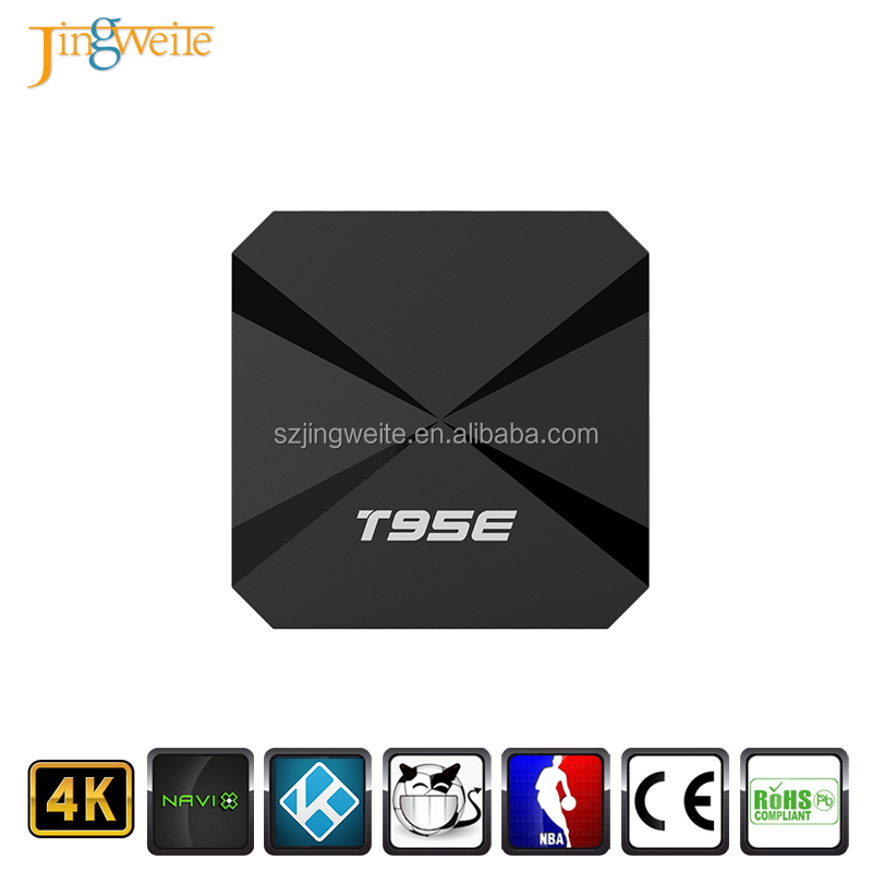 2017 Hot selling RK3229 quad core T95E android tv box 5-Core GPU 4K videos