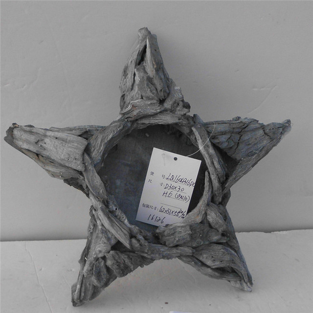 2016 Linyi wholesale wooden star decoration