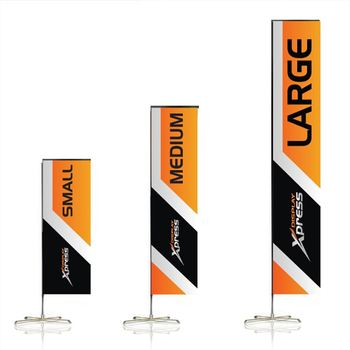 Shenzhen flag good quality outdoor event advertising double side printing aluminium flagpole rectangle banner beach square flag