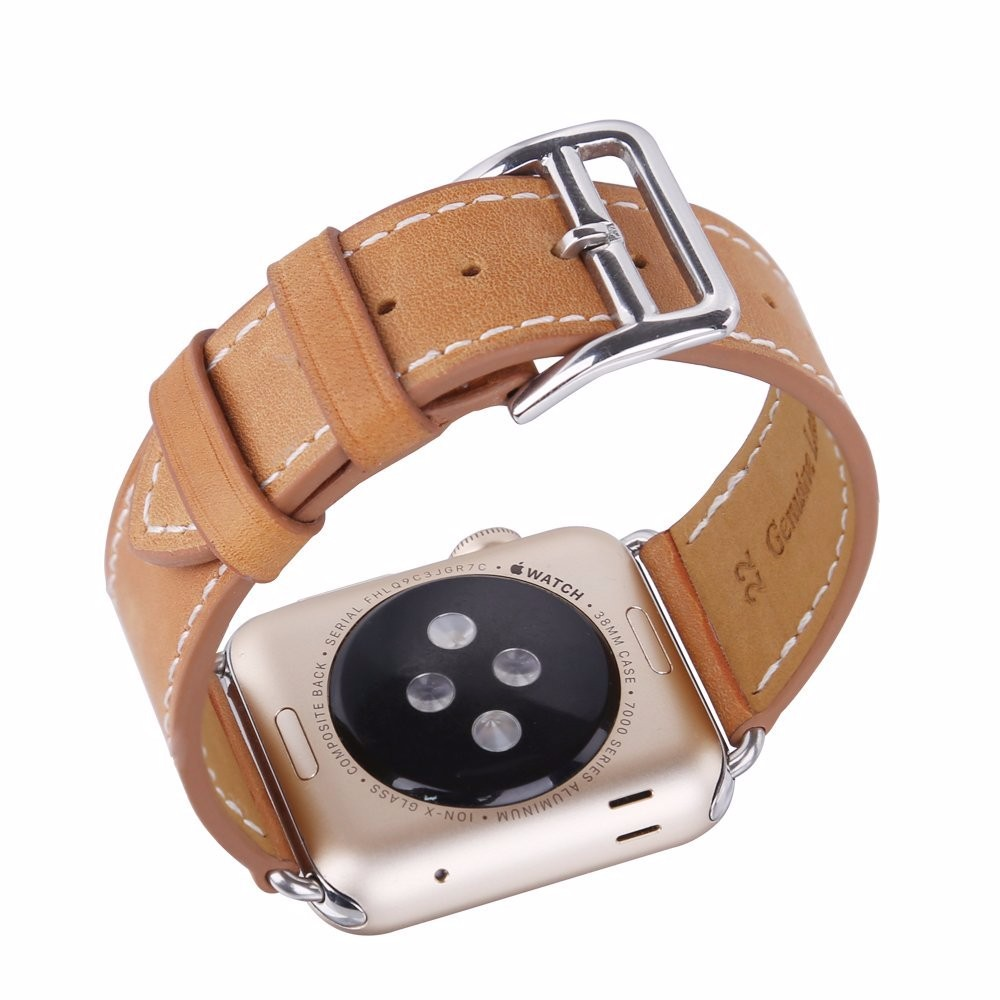 Factory Direct Real Leather Magnetic Wrist Band Modern Buckle iWatch Strap for Apple Watch Watchband