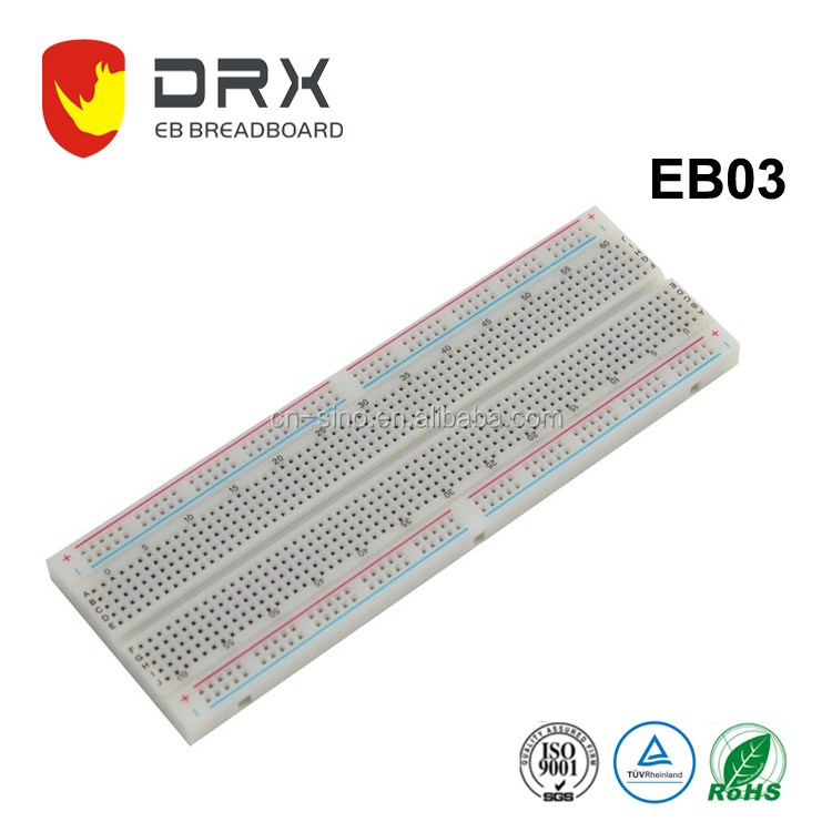 Solderless Breadboard 830 Tie-points Project Board MB-102 16.5*5.4cm for Prototyping Design