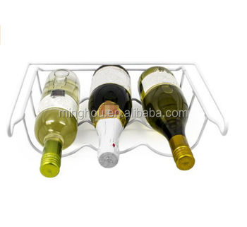 Superieur New Minghou Cheap Powdering White Iron Beer/wine Bottle Storage Rack For  Refrigerator