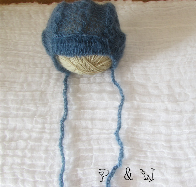 6c1bfee0356 Knit baby pants and hat Newborn photo prop set mohair bonnet and pants Lace  mohair hat
