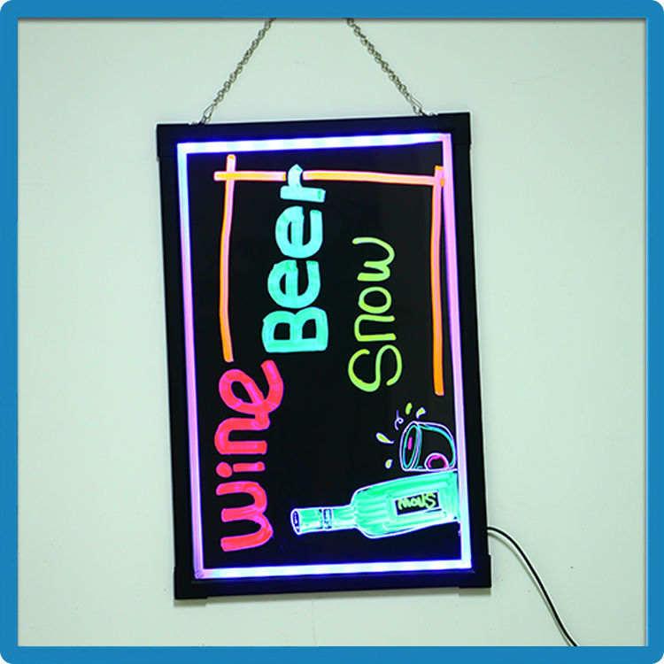 Newest wholesale acrylic display board 90 flashing modes remote controller restaurant board backlit led sign