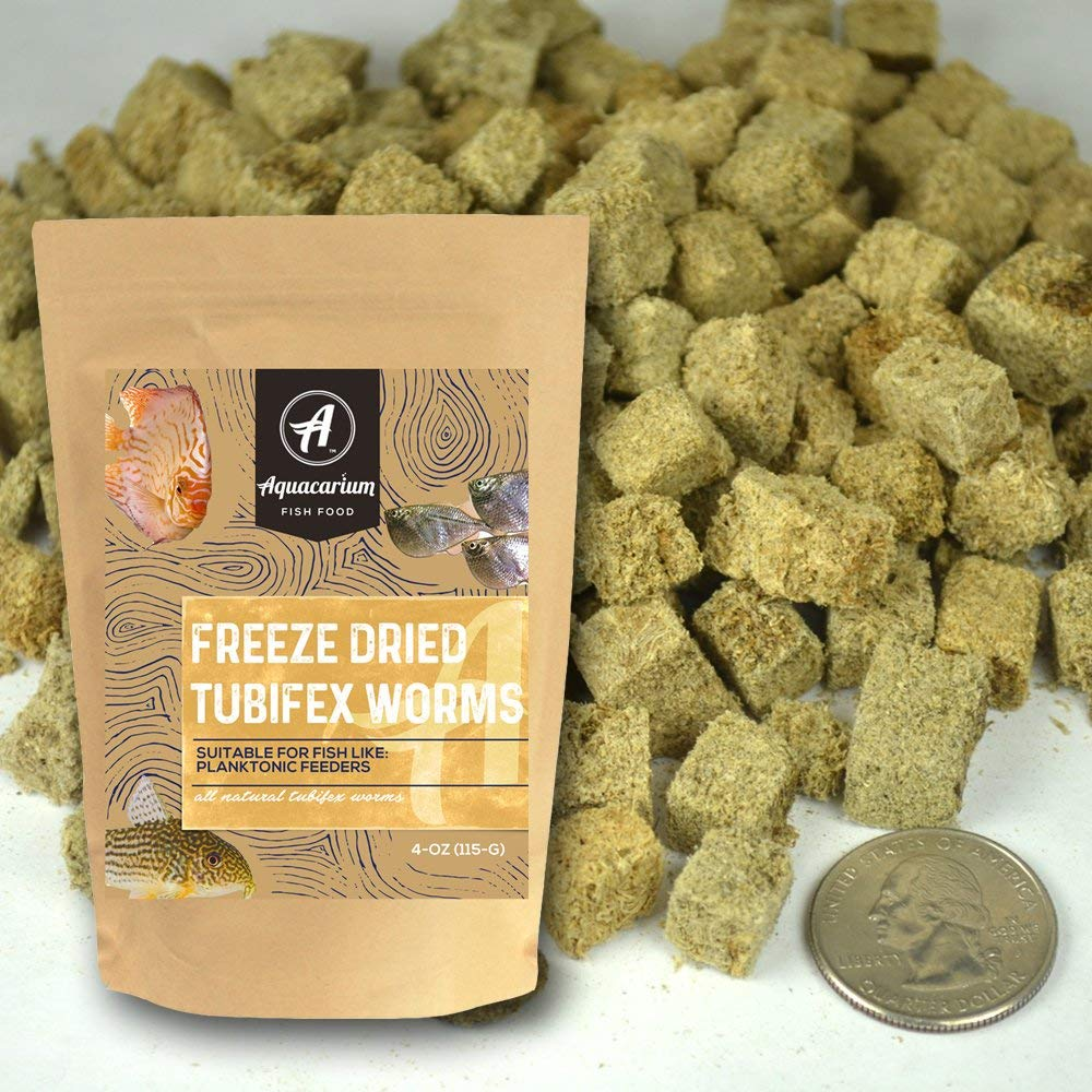 Tubifex Worms Freeze Dried Bulk Tropical Fish Food by Aquacarium