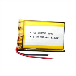 Polymer Lithium Battery Rechargeable Battery 3.7V 403759 900mah Li ion Battery