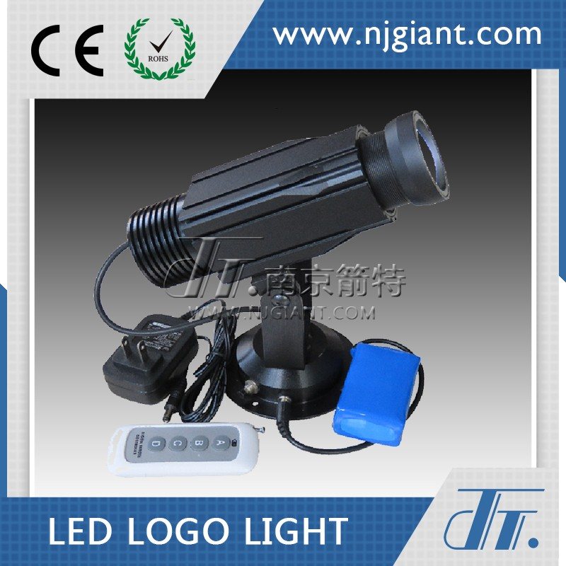 Indoor 20W Image Flashing And Fading LED Custom Gobo Image Projector With Remote Control