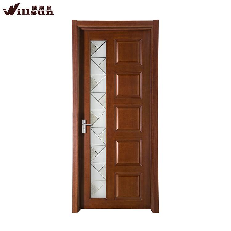 Puertas madera y cristal fotos de puerta batiente vidrio for Puertas de madera con vidrio para interior