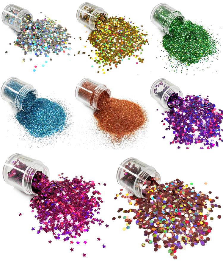 Bulk Polyester Party Decorations Glitters, poeder Glitter Tattoo Inkt Glitter Poeder