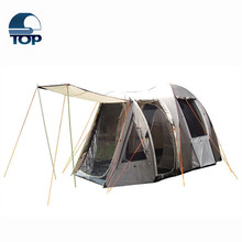 3-4 person double layer dual doors aluminum pole Outdoor Camping tent Four season Family Tents