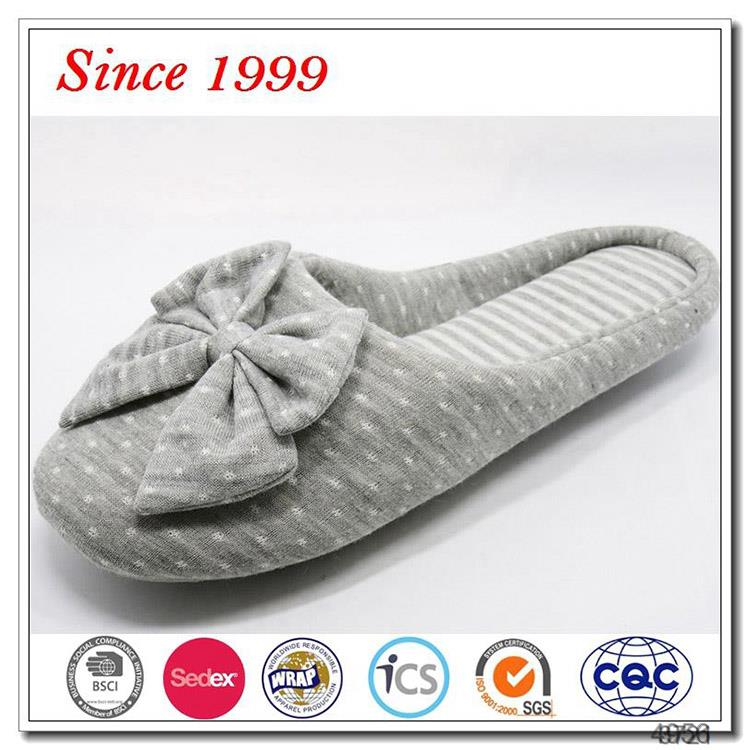 Customize slipper slide home big bow for womens