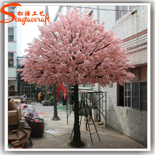 Artificial fake peach blossom tree as wedding blossom decoration ...