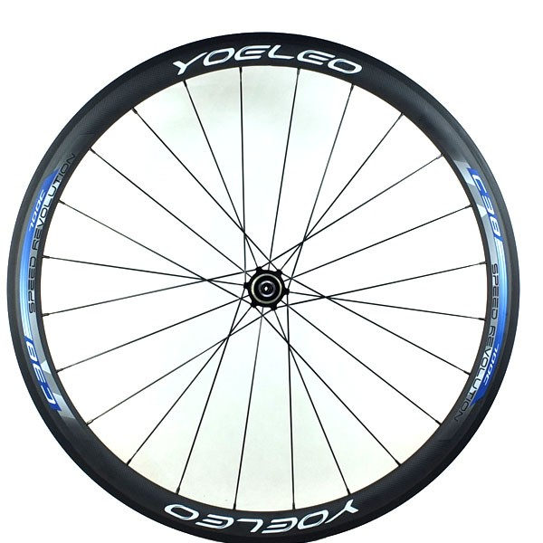 Pure Light Weight Carbon Clincher 38mm Wheel With Straight Pull Ceramic Bearing Hubs, Sapim Cx-Ray Spokes Carbon Wheel