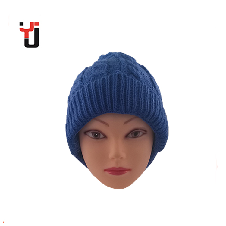 c2931ecc70e Promotion Blue Pompom Hemp Knitted Bluetooth Headset Beanie Hat ...