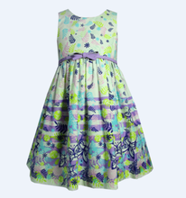 latest kids clothes girl frock dress designs for party with stripe print at sweep