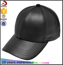 Wholesale plain black leather baseball caps