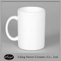 Cheap factory stocked plain white ceramic mug