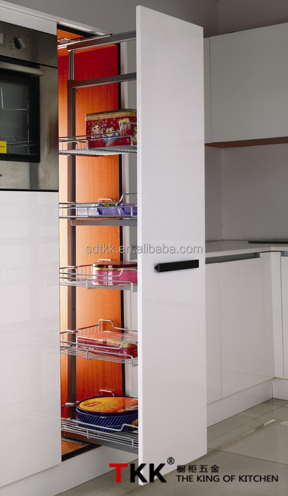tkk keuken bijkeuken schuiven draadmand hoge kast-keuken opslag ...