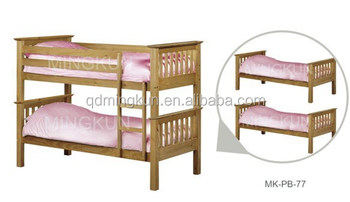 Wooden Bunk Beds Can Be Separated To Two Bed Buy Bunk Beds Pine