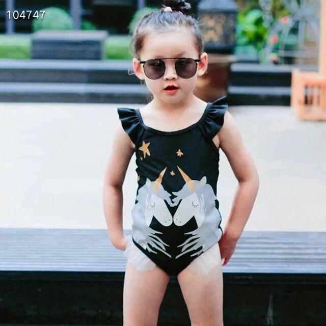 2019 ฤดูใบไม้ผลิและฤดูร้อนสาวใหม่สุภาพสตรี noble unicorn ชุดว่ายน้ำเด็กการ์ตูนเด็กชุดว่ายน้ำ hot spring