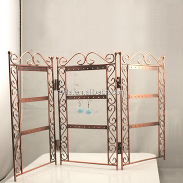 Fashion Copper Earrings Holder Folding jewelry display rack