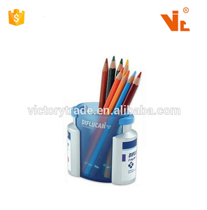 V-PH-13 Custom plastic bottle shaped doctor pen/pencil stand with magnetic clip holder