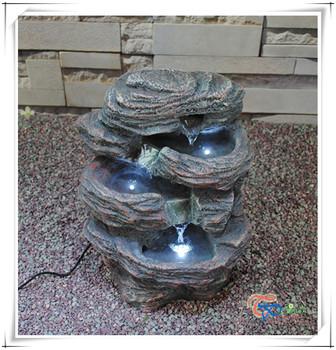 resin mini indoor artificial waterfall tabletop water fountain
