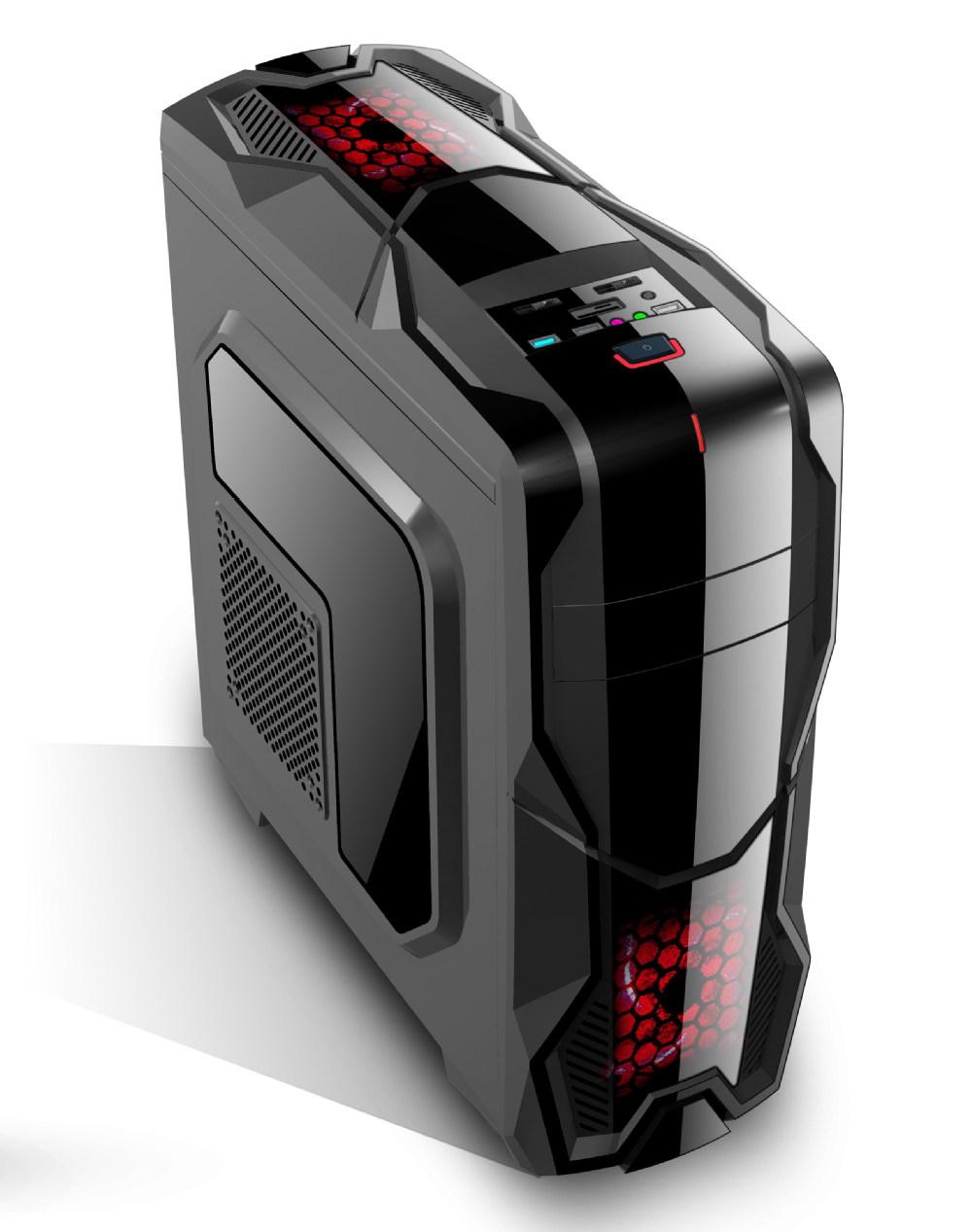 Unique design double panels multifunctional gamer pc case for Case design
