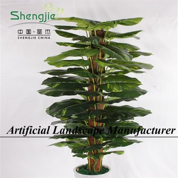 sjy01532 natural looking ornaments silk green large or mini foliage