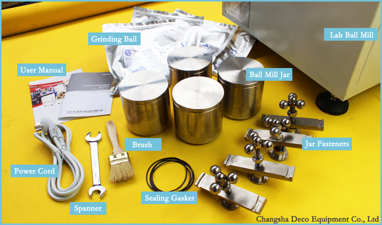 Deco Planetary Ball Mill Superfine Glass Powder Grinding Machine ...