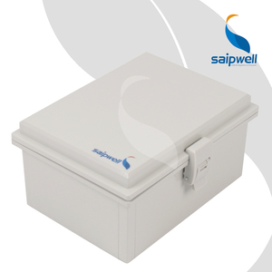 Saipwell Plastic Box Hinged Lid Container Electric Cabinet (150*200*100) SP-MG-1520/ Waterproof enclosure