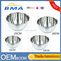 4 Pieces Stainless Steel Mixing Bowl Set 16CM,18CM,20CM,24CM