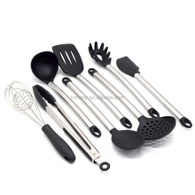 Kitchen Utensils silicone 8 Piece Cooking Utensils - Nonstick Utensil Set Silicone and Stainless Steel Kit For Pots and Pans