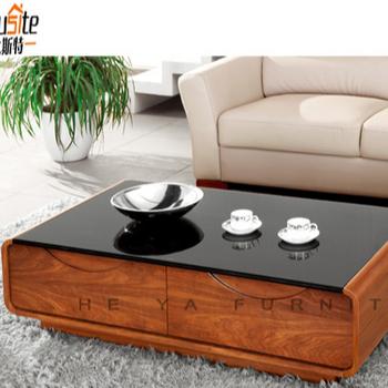 Walnut Veneer Center Table,cheap Mirror Glass Coffee Table