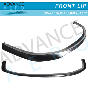 For 06 07 08 Honda Civic Ek 2dr Sir Style Pu Front Bumper Lip