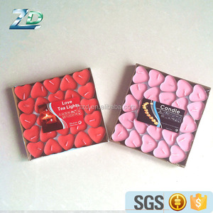 alibaba red pink heart shape tealight candle for sale