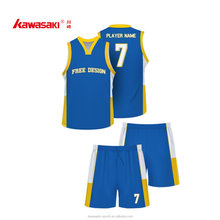 New style basketball jersey uniform design color blue basketball wear cheap basketball jersey custom