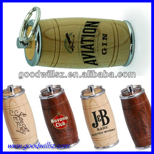 hot-selling wooden beer bottle usb flash disk