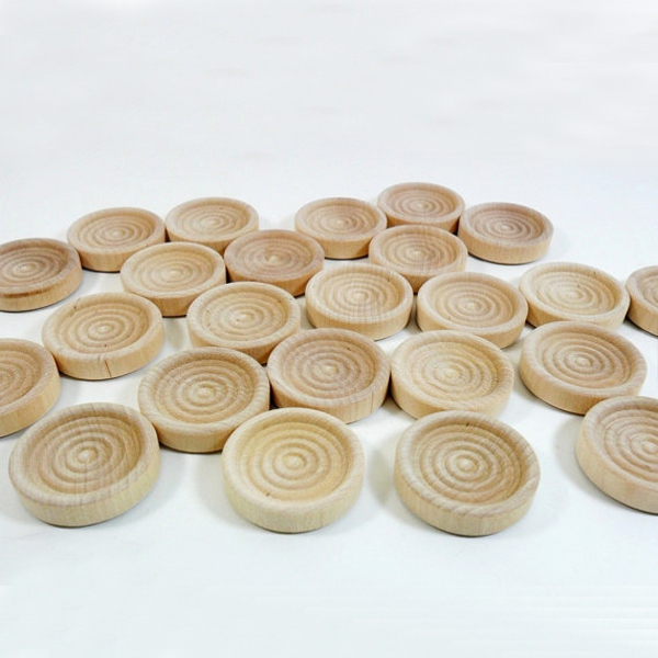 "1 1/4"" unfinished wood checkers,set of 24 wood checker game set"