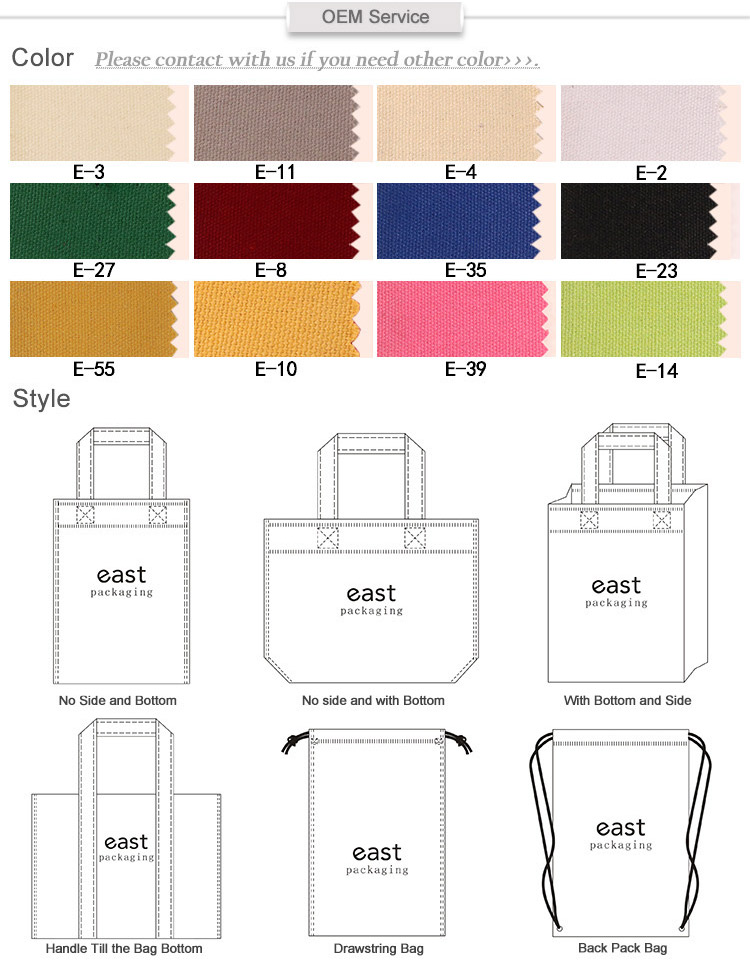 Custom Color Print Packaging Cotton Pouch Bag Cotton Drawstring Bag
