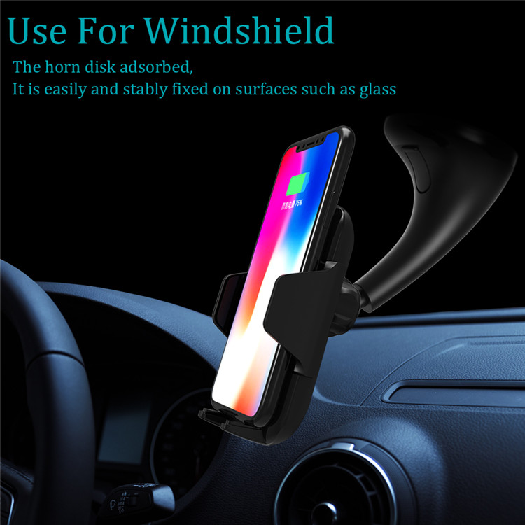 multifunction infrared wireless car charger fast charge 10W qi stand charger