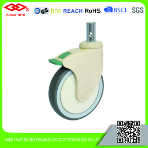 150mm Precision Swivel Industrial Rubber Retractable Casters