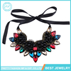 Latest Design Fashion Jewelry Trendy Colorful Waterdrop Crystal Rhinestone Pearl Collar Max Statement Necklace For Evening Dress