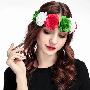 Women s Hawaiian Stretch Rose Flower Headband Floral Crown for Garland Party ea9705e0988