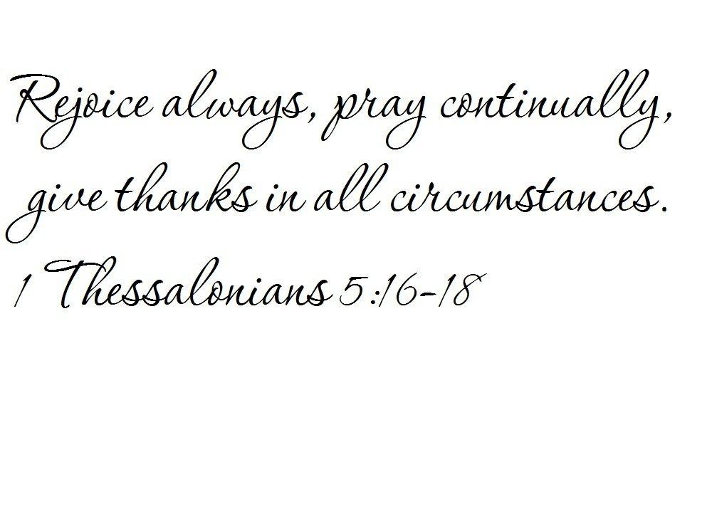 Buy 1 Thessalonians 516 18 Wall Art Be Joyful Always Pray
