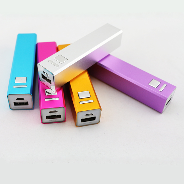 Gift Small Size Portable Aluminium metal power bank 2600 mAh