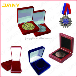 Promotional Box for Metal Medal,Custom Metal Medals with Velvet Medal Boxes