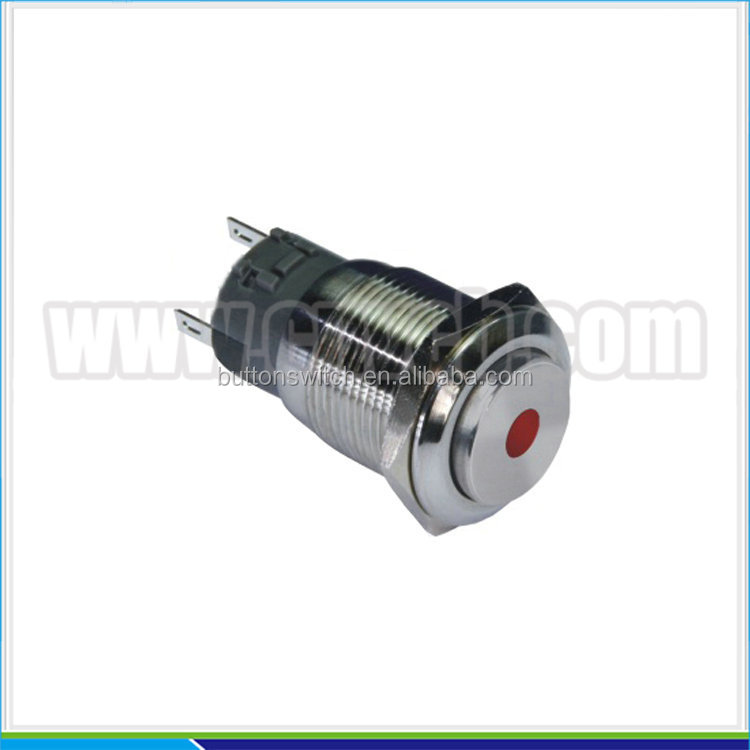 IN29 19mm 12VDC illuminated metal indicator with pilot lamp