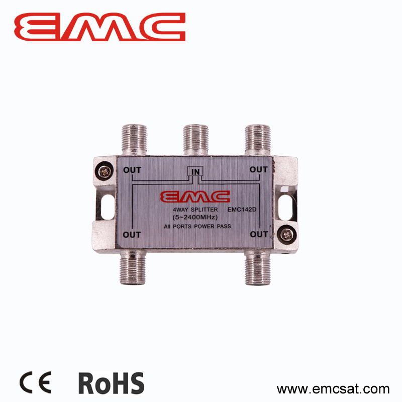 SMATV 4 way low loss splitter