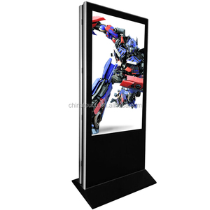 Hot sale 55 inch floor stand double sides digital signage lcd advertising display dual touch screen kiosk